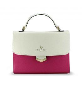 Gunas Flamingo Handbag: Pink Dual Tone