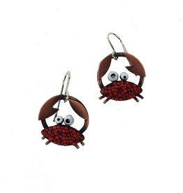 Chickenscratch Earrings: Crabby