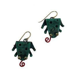 Chickenscratch Earrings: Flytrap