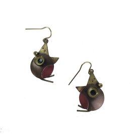 Chickenscratch Earrings: Robin