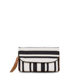 Mercado Global Paulina Clutch: Black/Natural