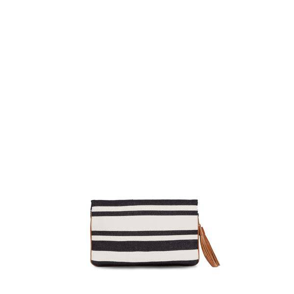 Mercado Global Mercado Global Paulina Clutch: Black/Natural
