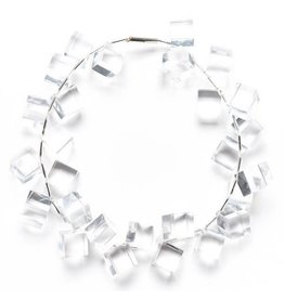 Laurent Guillot Cubes Necklace: Clear