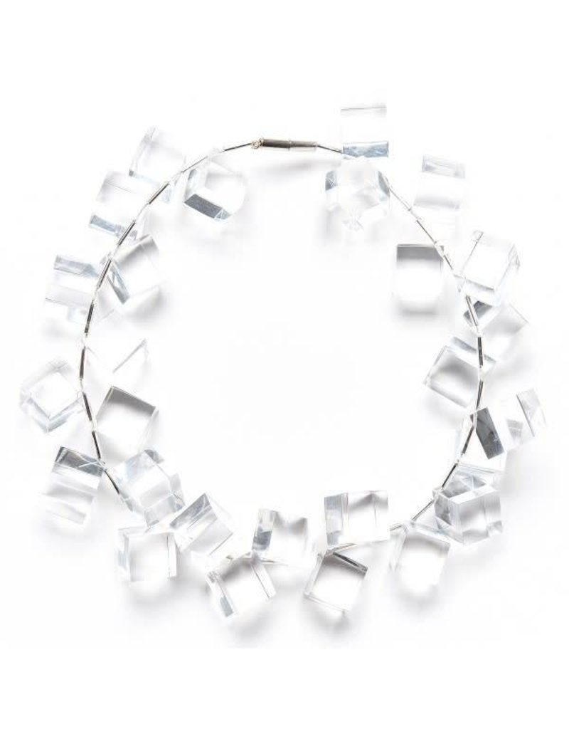 Laurent Guillot Laurent Guillot Cubes Necklace: Clear