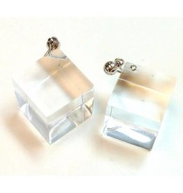 Laurent Guillot Cube Earrings: Clear