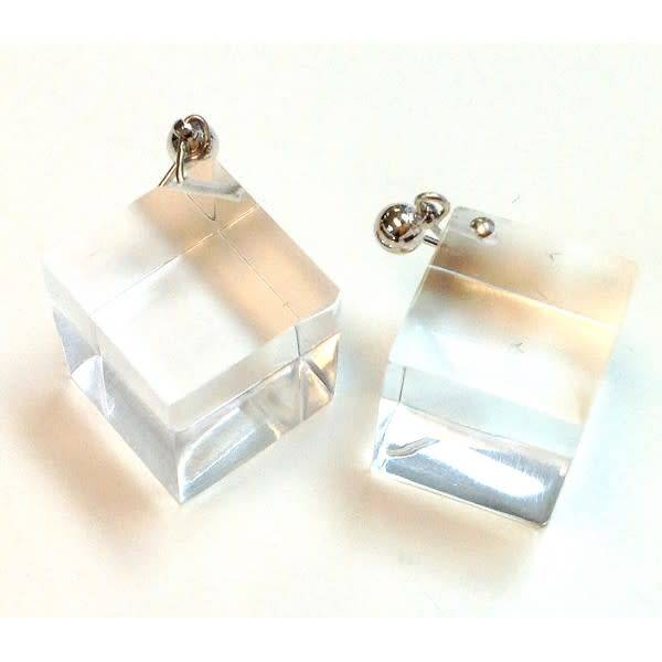 Laurent Guillot Laurent Guillot Cube Earrings: Clear