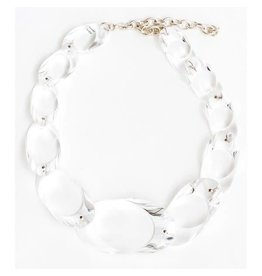 Laurent Guillot Oval Necklace: Clear