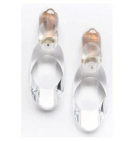 Laurent Guillot Oval Clip-Ons: Clear