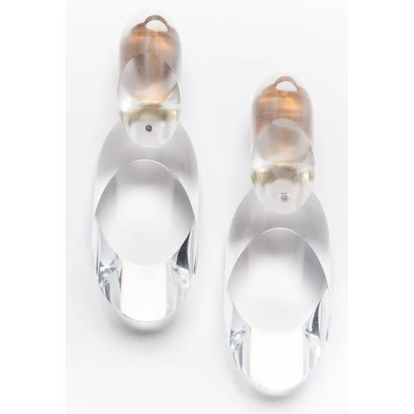 Laurent Guillot Laurent Guillot Oval Clip-Ons: Clear