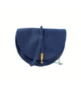 Jo Wire Saddle Crossbody: Navy