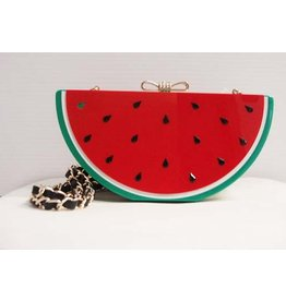 Veneto Watermelon Evening Bag