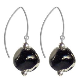 Italianissimo Pebble Earrings: Black
