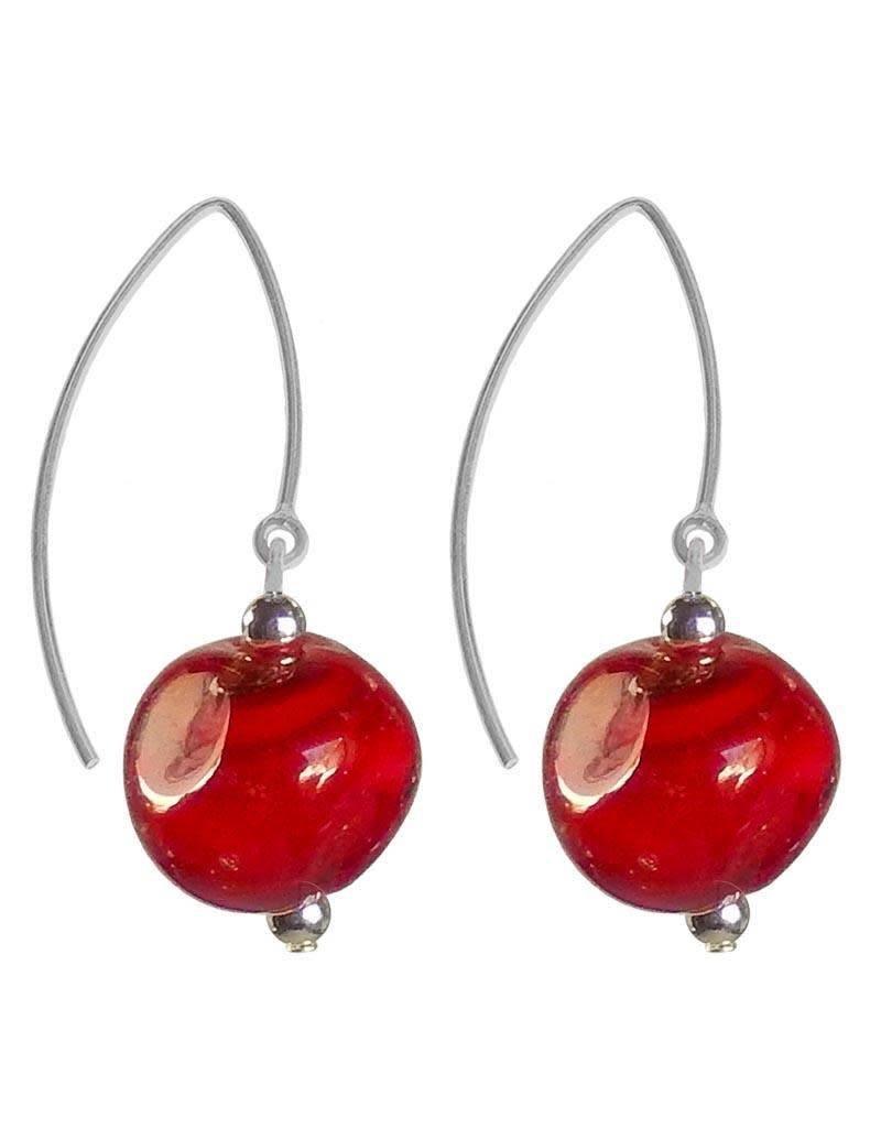 Italianissimo Italianissimo Pebble Earrings: Cherry