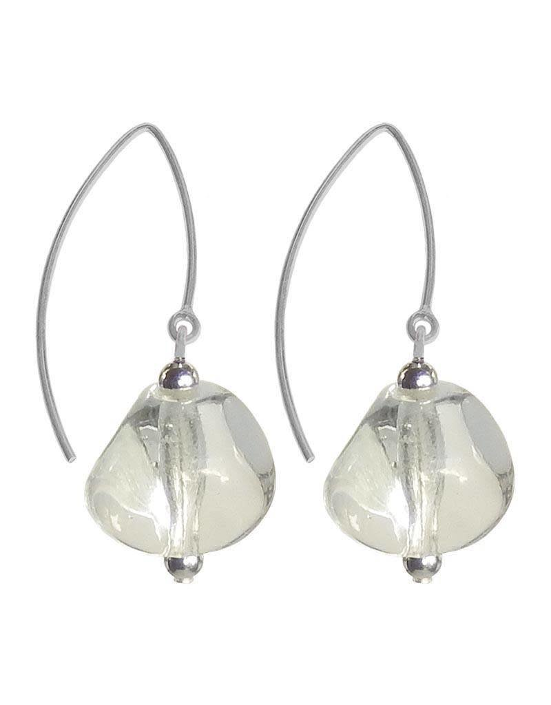 Italianissimo Italianissimo Pebble Earrings: Crystal