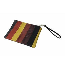 C.A.S. Handmade Clutch: Stripe