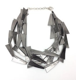 Beyond Threads Blade Necklace: Pewter