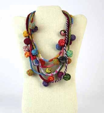 Beyond Threads Beyond Threads Fiorella Necklace: Multi
