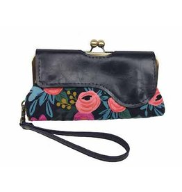 John Met Betty Audrey Clutch: Navy Floral