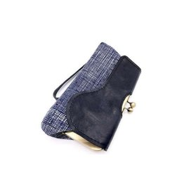John Met Betty Audrey Clutch: Navy Stripe