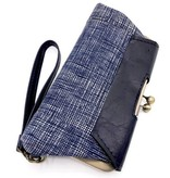 John Met Betty John Met Betty Audrey Clutch: Navy Stripe