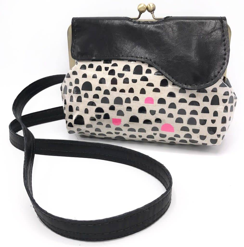 John Met Betty John Met Betty Audrey Crossbody: Kokka Pink & Black