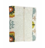 Tiana Tiana Fold Over Cutch: Ivory/Orange/Multi