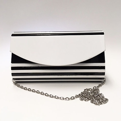 Veneto Veneto Black & White Evening Bag