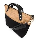 Spicer Bags Spicer Bags Satchel: Cork Dash Gold & Black Canvas