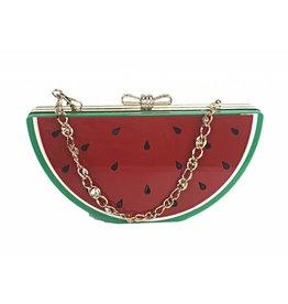 Veneto Watermelon Evening Bag