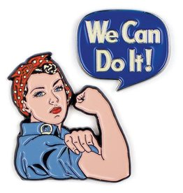 Unemployed Philosophers Enamel Pins: Rosie & We Can Do It