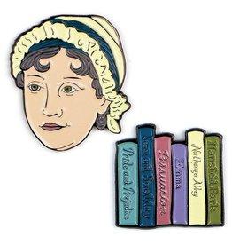 Unemployed Philosophers Enamel Pins: Jane Austen & Books