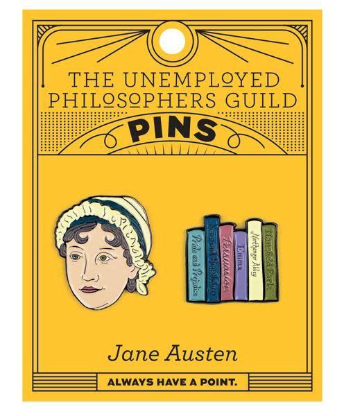 Unemployed Philosophers Unemployed Philosopher's Enamel Pins: Jane Austen & Books