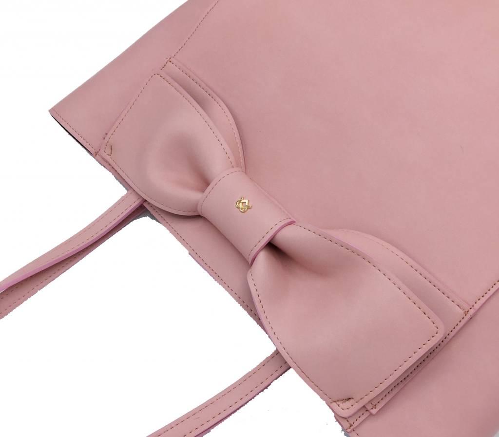 Gunas Gunas Cher Bow Tote: Pink