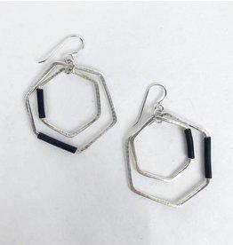 Inteplei Earrings: B & W Cluster