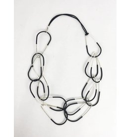 Inteplei Necklace: B & W Links