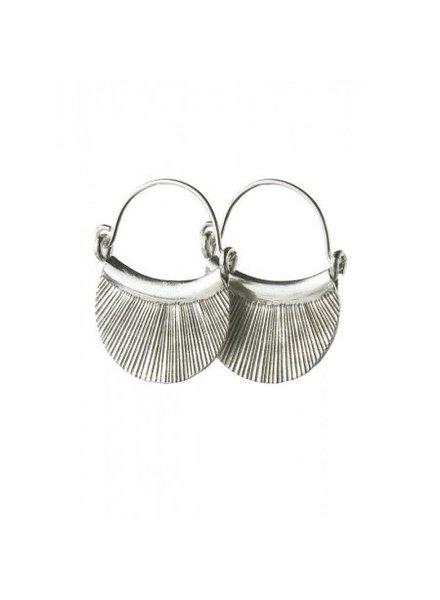 Talis Silver Fan Earrings