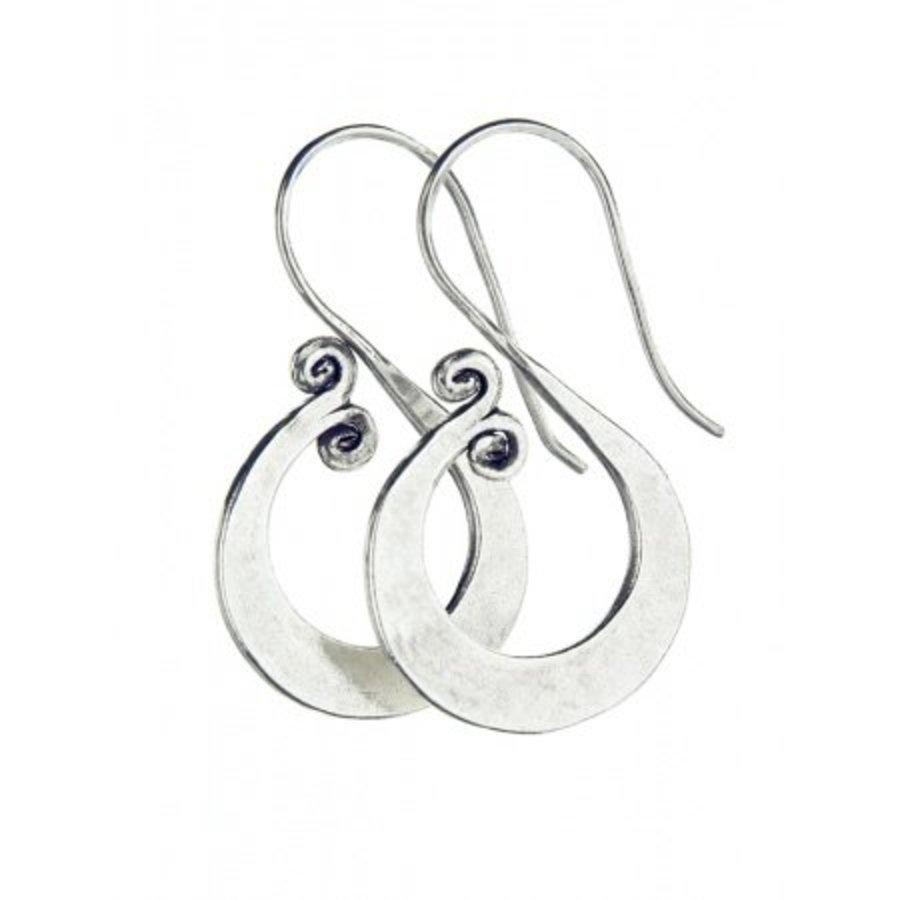 Talis Silver Spiral Earrings