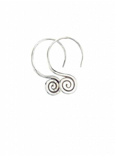 Talis Spiral Drop Earrings