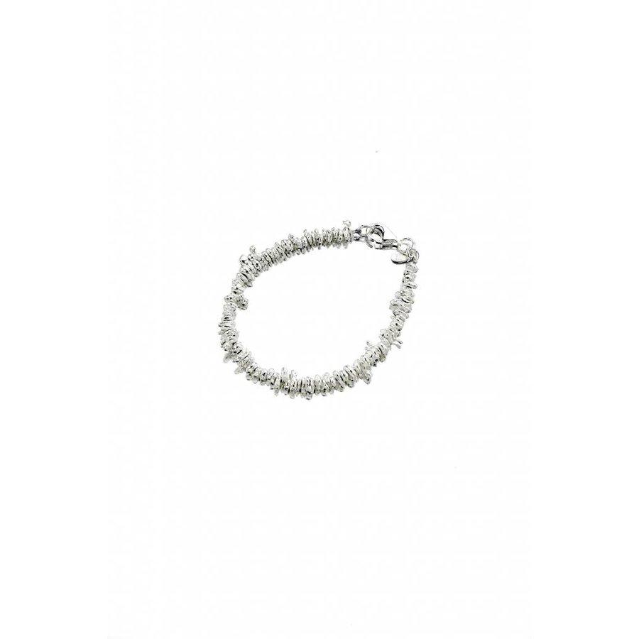 Talis Jagged Silver Bead Bracelet