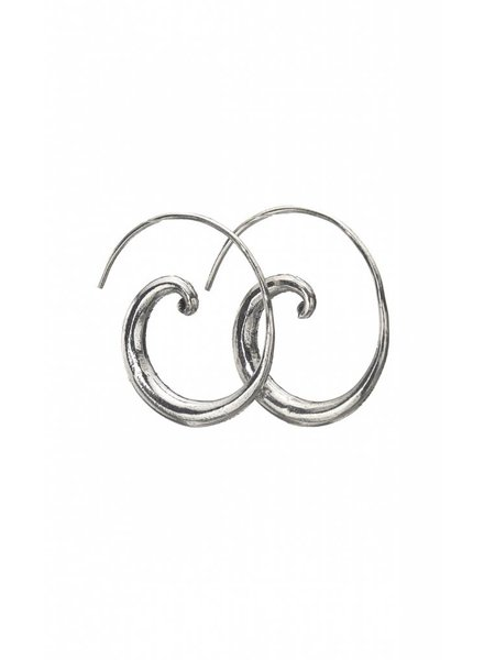 Talis Silver Curled Open Hoop