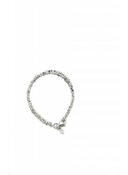 Silver Nugget Bead Bracelet