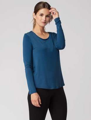 Bamboo Scoop Neck Long Sleeve Tee