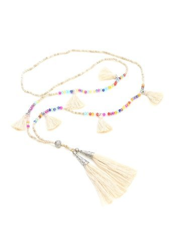 Multi-Tassel Bead Necklace