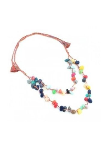 Multi-Colour Resin Rope Necklace
