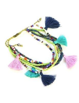 SB Adjustable Tassel Bracelet