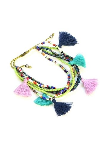 SB Adjustable Tassel Bracelet