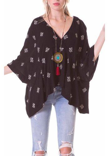 Guru Guru Togetherness Poncho w Pockets