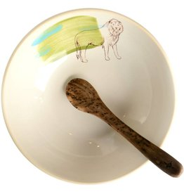 Lion Bowl with Spoon