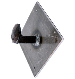 Train Spike Wall Hook on Plate