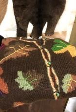 Alpaca Sweater, Leaves, Multi-Color XL